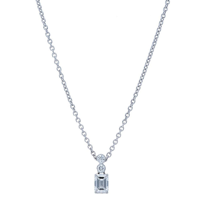 Deutsch Signature 2 Bezel Drop with Emerald Diamond Pendant
