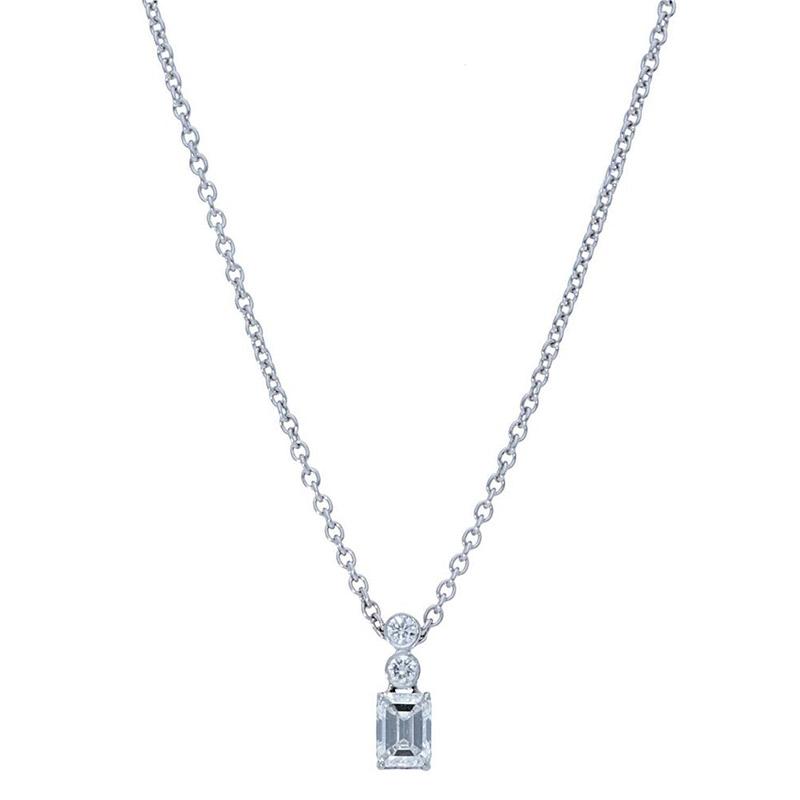 Deutsch Signature 2 Bezel Drop with Emerald Diamond Pendant