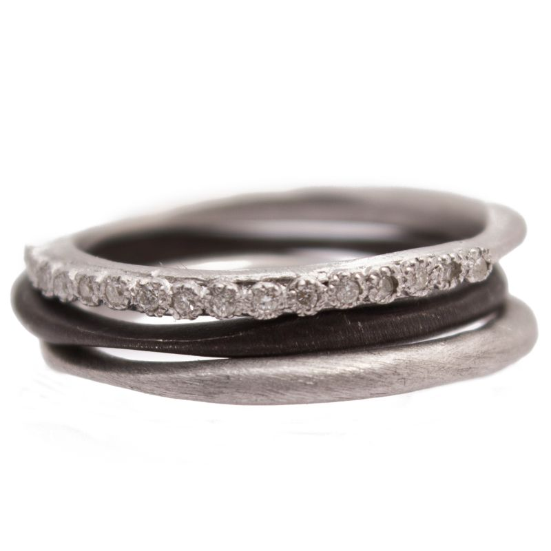 New World Set Of Three Stack Ring