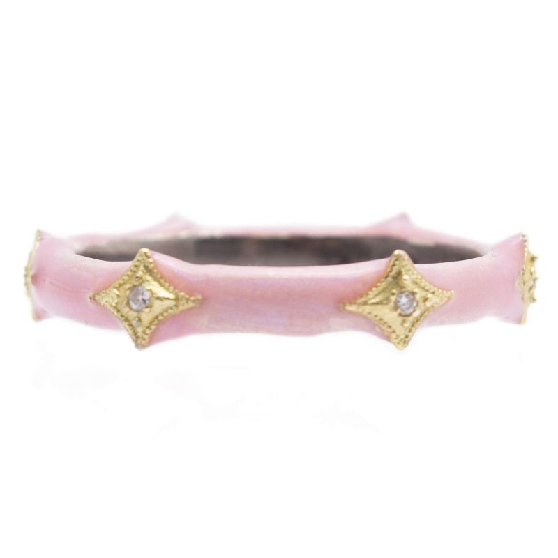 Rose Pink Enamel Stack Ring