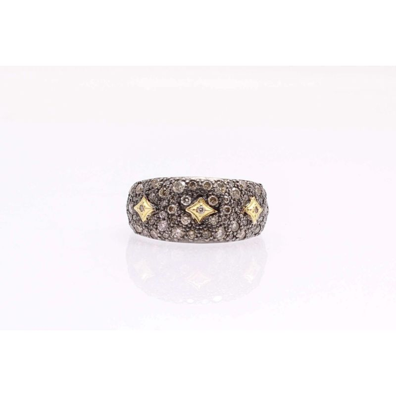 Old World Pave Crivelli Ring With Champagne Diamonds