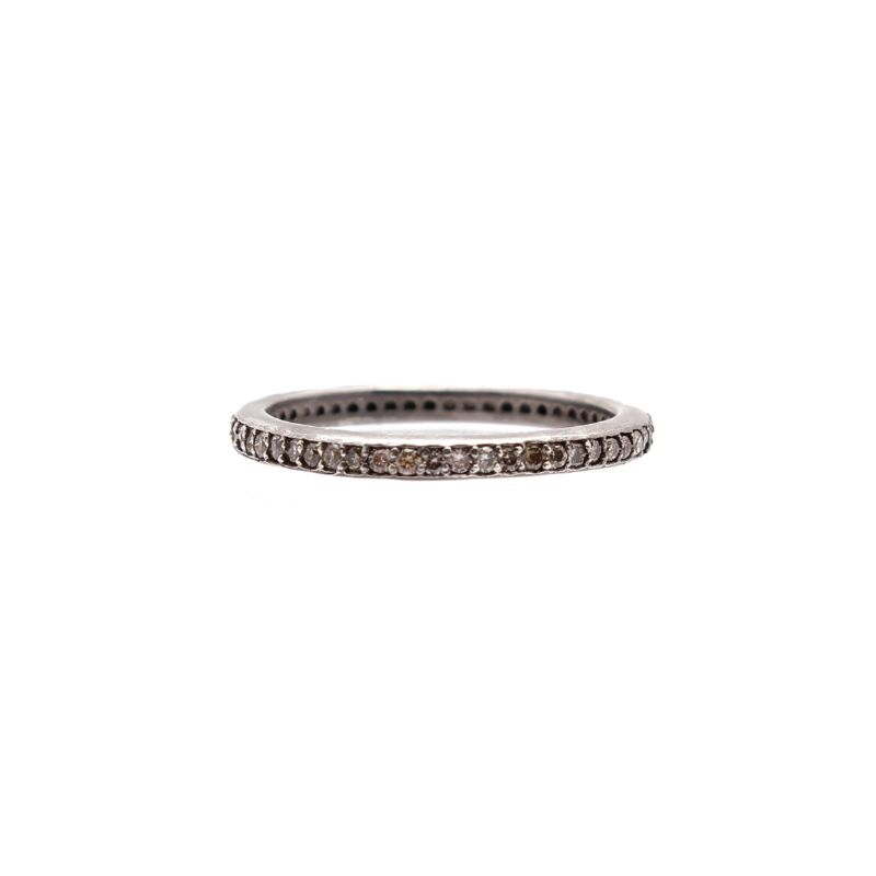 New World Champagne Diamond Eternity Stack Band Ring