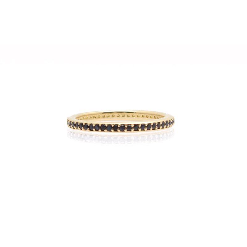 Sueno Black Sapphires Stack Band Ring