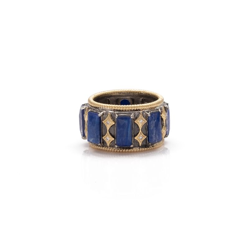 Old World Crivelli Lapis/Blue Moonstone Doublet Ring