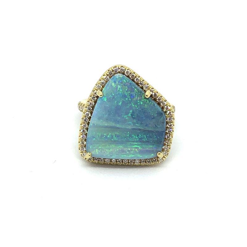 Lauren K Mischa Free Form Boulder Opal Ring