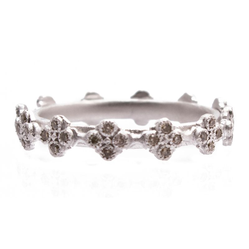 New World Pave All Crivelli Stack Ring