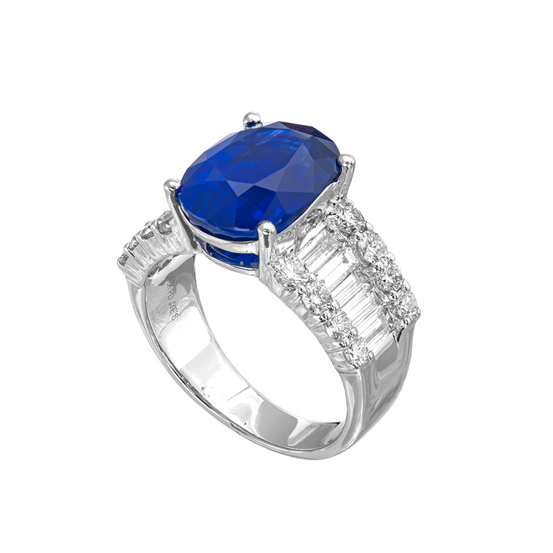 Jye's Sapphire and Diamond Alternating Ring