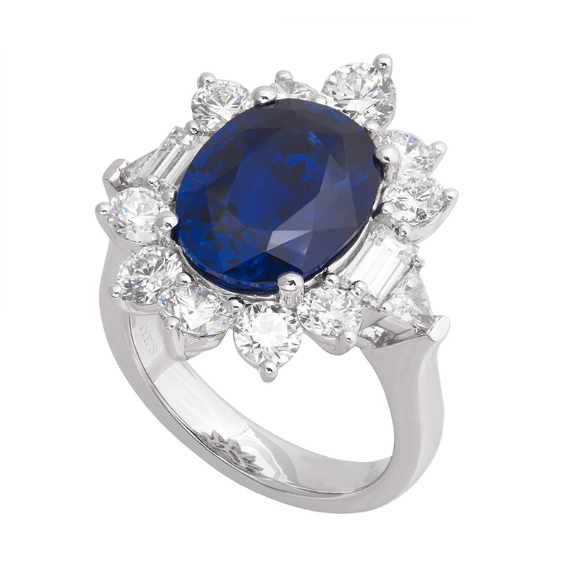 Jye's Sapphire and Diamond Halo Ring