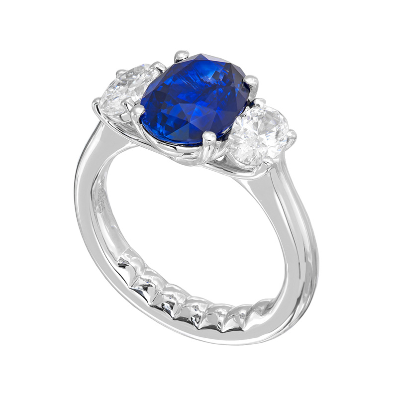 Jye's Oval Sapphire and Diamond Ring