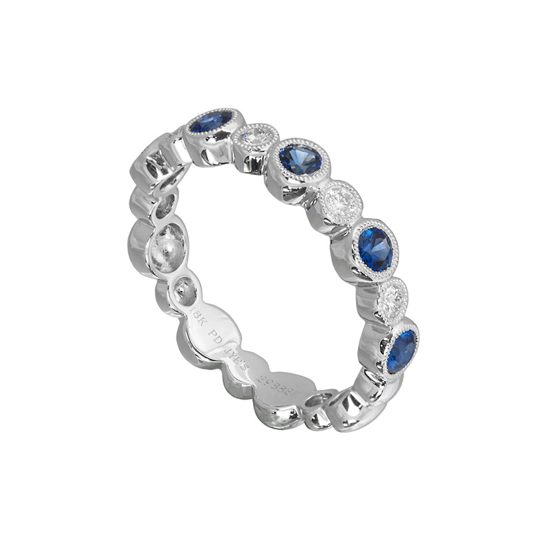 Jye's Alternating Sapphire and Diamond Ring