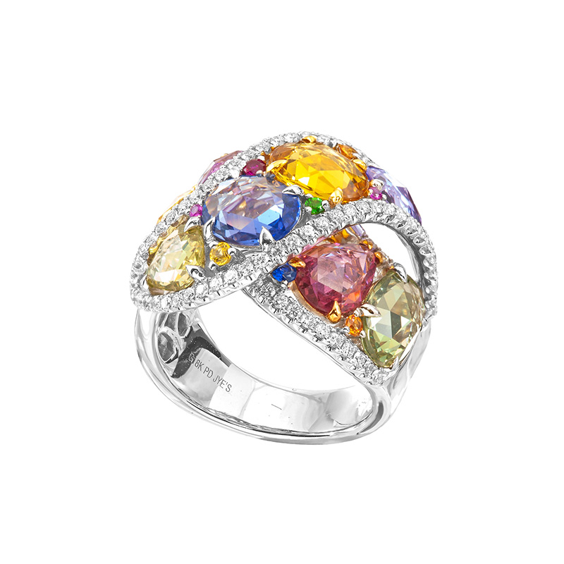 Jye's Multi Color Sapphire Ring