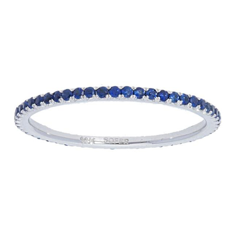 Deutsch Signature Blue Sapphire Eternity Stackable Ring