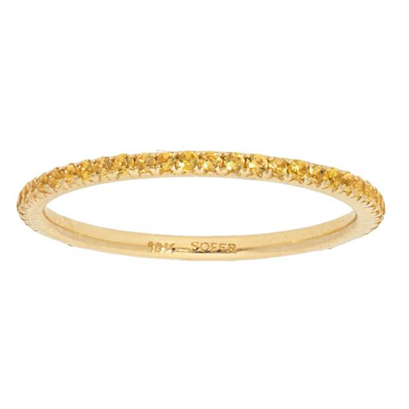 Deutsch Signature Yellow Sapphire Eternity Band
