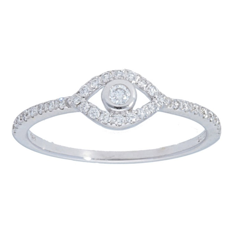 Deutsch Signature Diamond Pave Evil Eye Ring