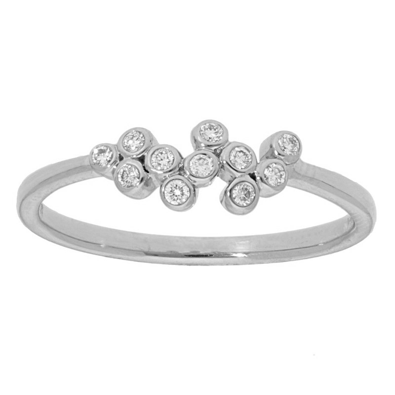 Deutsch Signature Scattered Diamond Bezel Ring