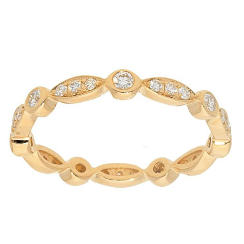 Deutsch Signature Alternating Marquise and Round Shape Diamond Eternity  Band
