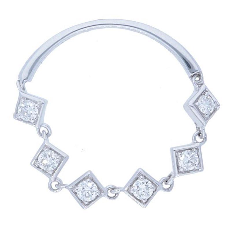 Deutsch Signature Diamond Shape Station Chain Ring