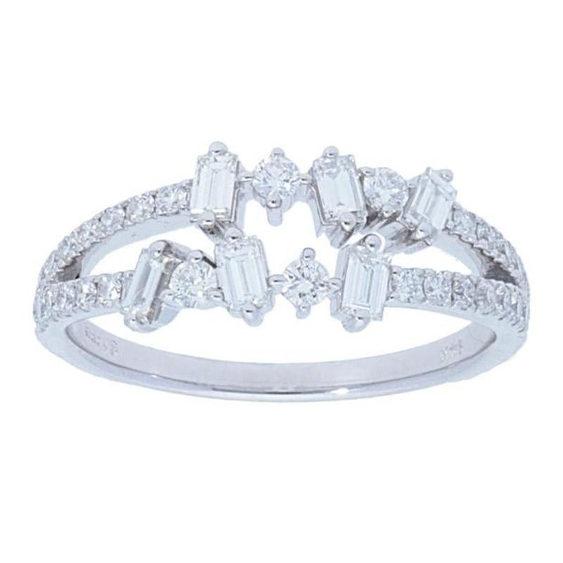 Deutsch Signature Double Row Mulit Diamond Ring