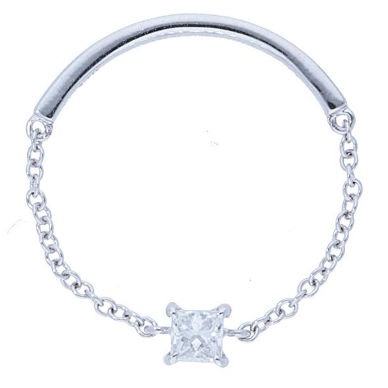 Deutsch Signature Princess Diamond Chain Ring