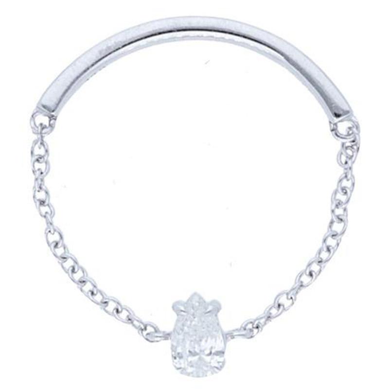 Deutsch Signature Pear Diamond Chain Ring