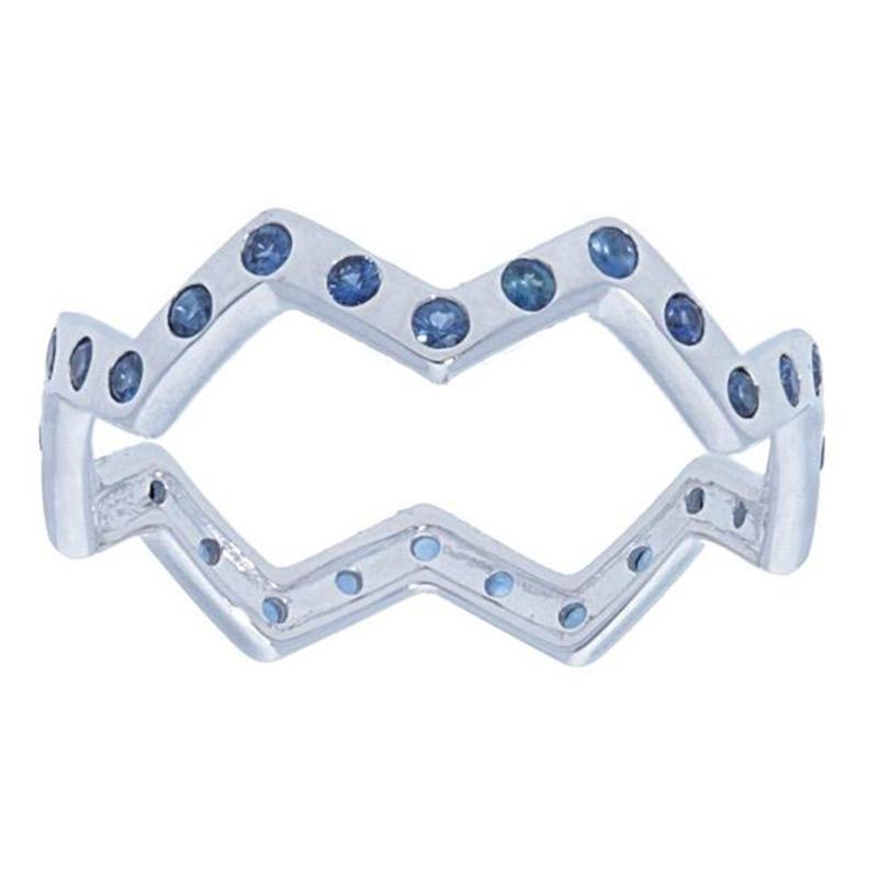 Deutsch Signature Zig Zag Blue Sapphire Eternity Ring