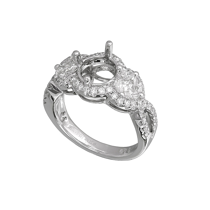 Jye's Halo Marquise Diamond Semi Mounting