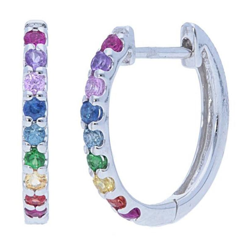 Deutsch Signature Rainbow Huggie Earrings