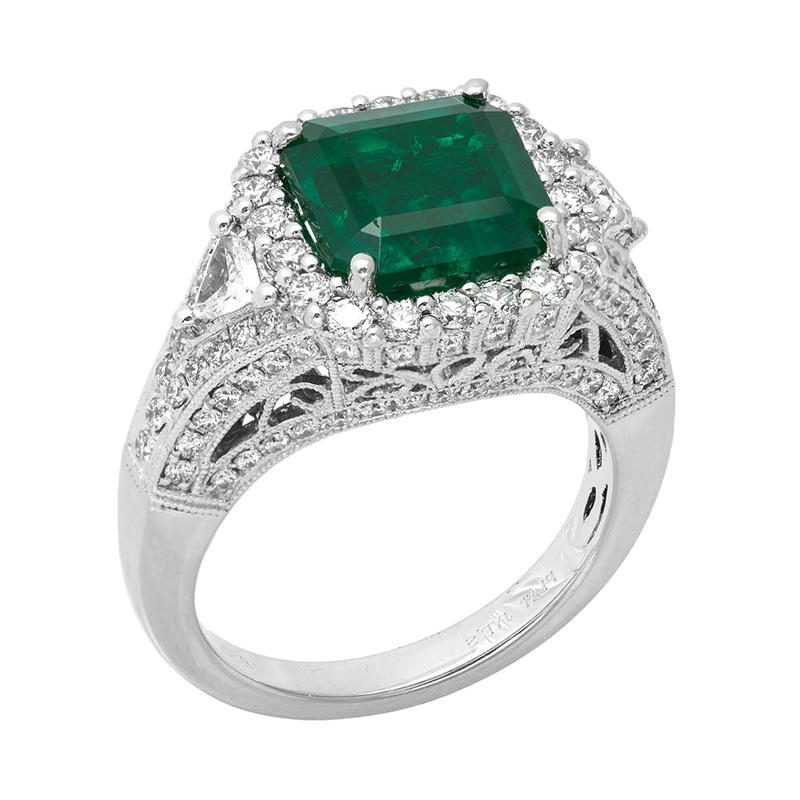 Jye's Emerald and Diamond Ring