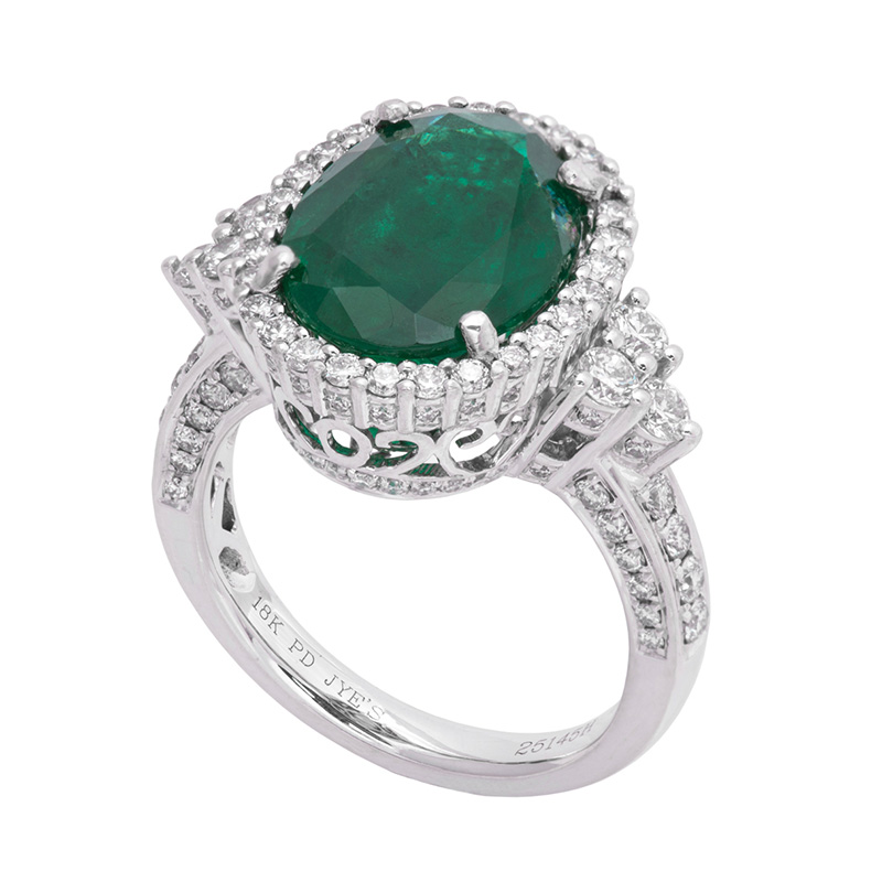 Jye's Oval Emerald and Diamond Ring