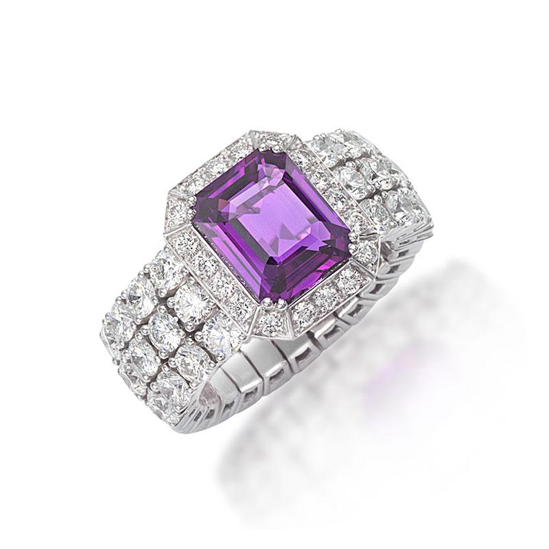 Xpandable™  Purple Sapphire ring