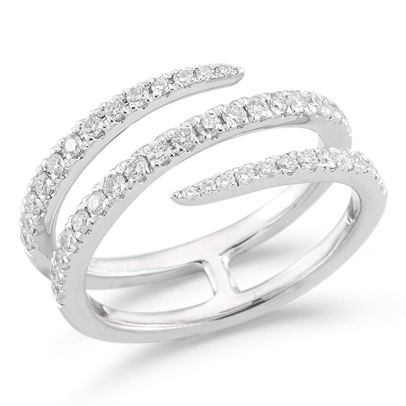 Deutsch Signature Open Wrap Round Half-Way Around Diamond Ring