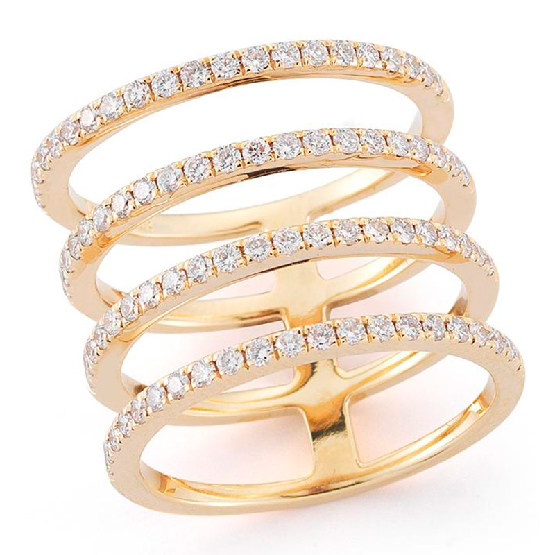 Deutsch Signature 4 Row Open Diamond Ring