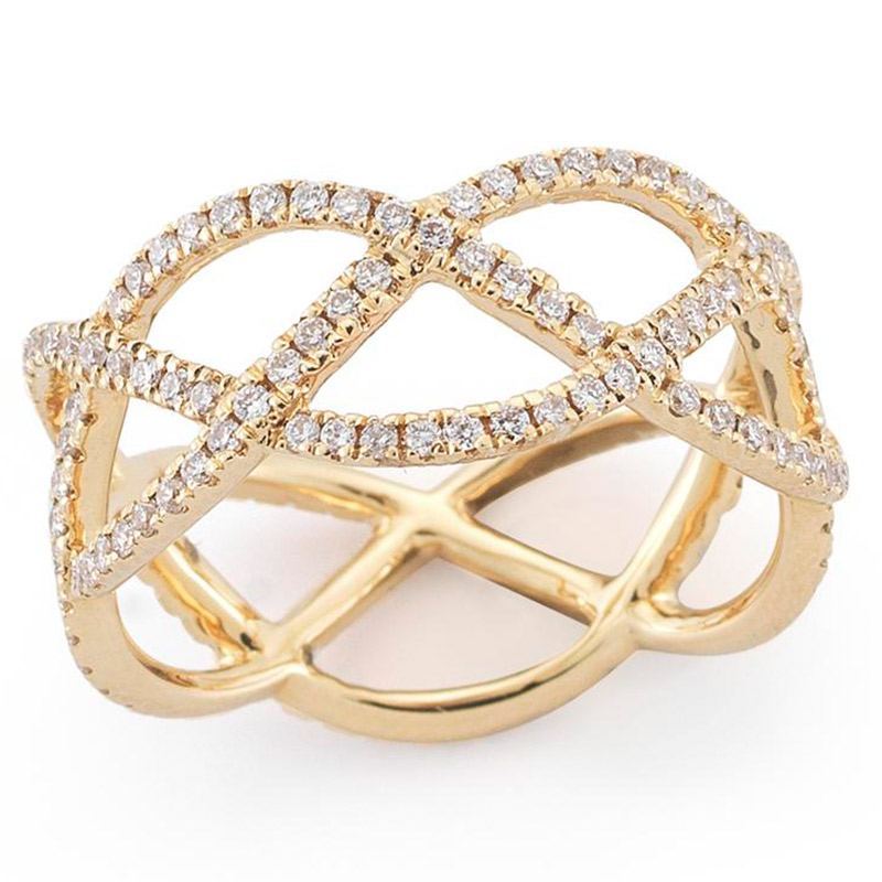 Deutsch Signature Open Diamond Criss Cross Ring