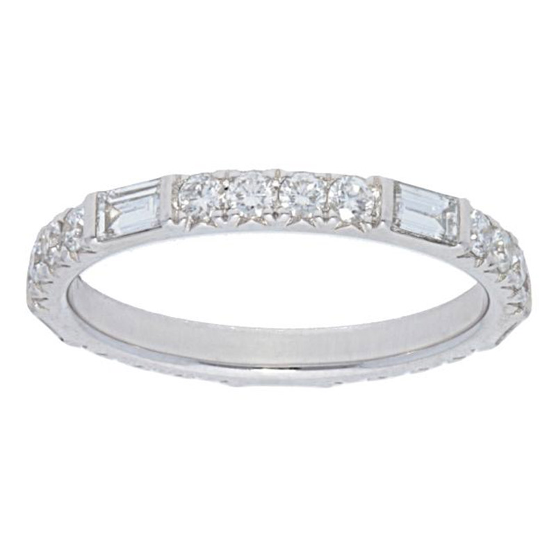 Deutsch Signature Alternating Baguette and 5 Round Diamond Eternity Ring