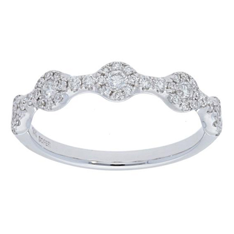 Deutsch Signature Alternating Halo Diamonds Ring