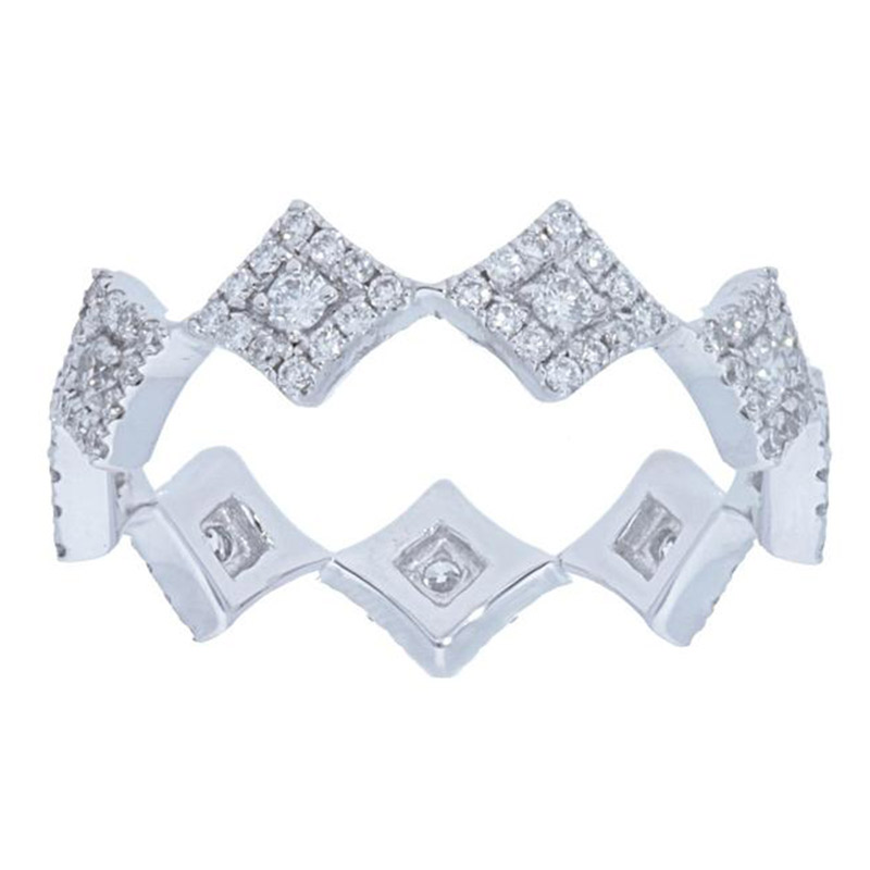Deutsch Signature Diamond Shape Halo Eternity Ring