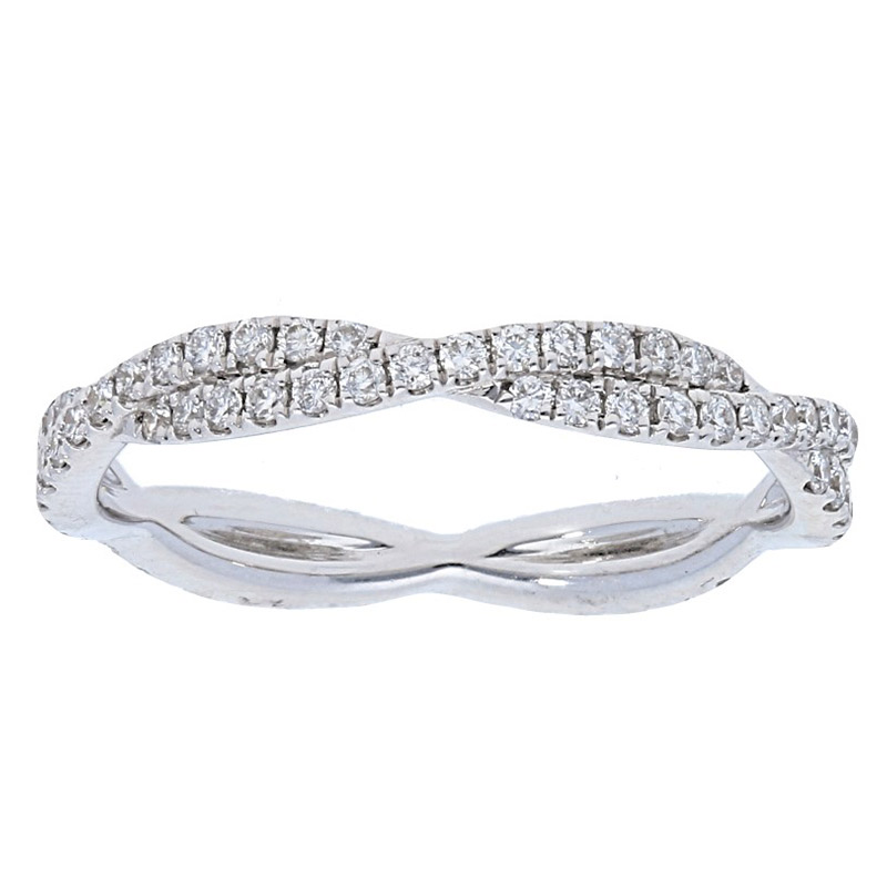 Deutsch Signature Twisted Diamond Eternity Ring