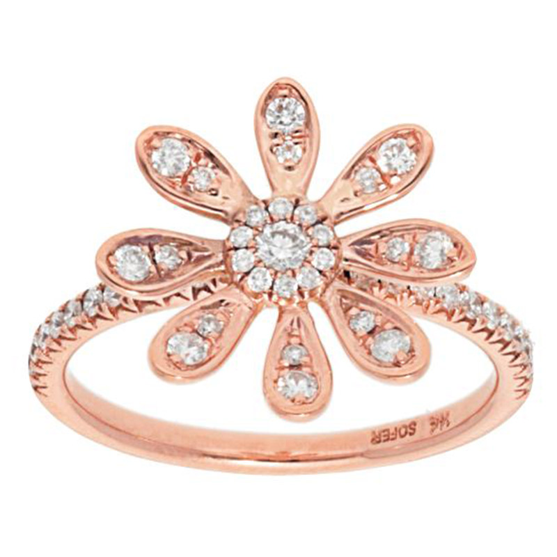 Deutsch Signature Diamond Petal Flower Ring