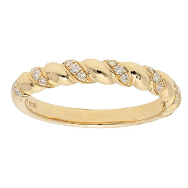 Deutsch Signature Twisted Diamond and Polished Half-Wayr Around Ring