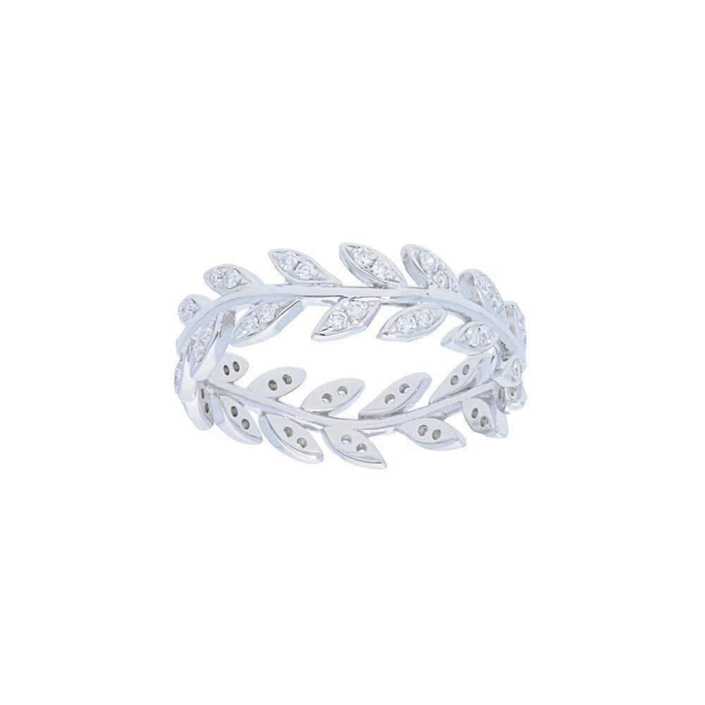 Deutsch Signature Diamond Leaf Ring