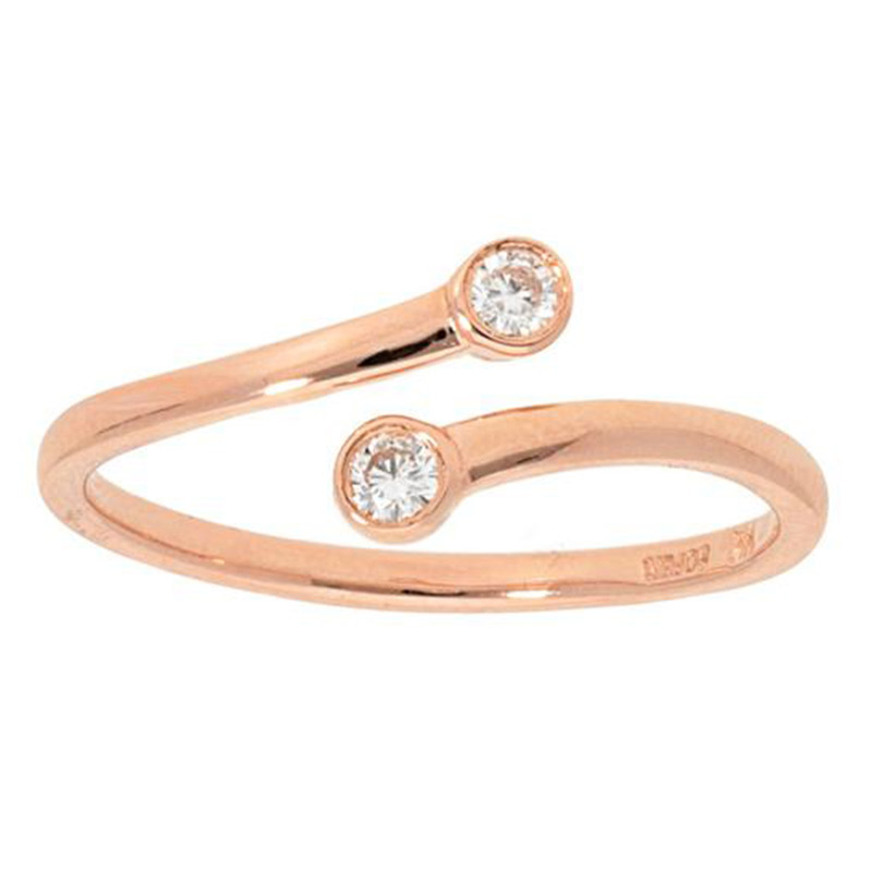 Deutsch Signature 2 Stone Diamond Bezel Ring