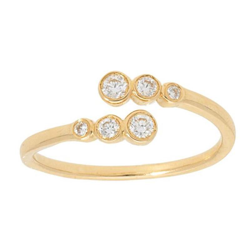 Deutsch Signature 6 Stone Diamond Bezel Ring