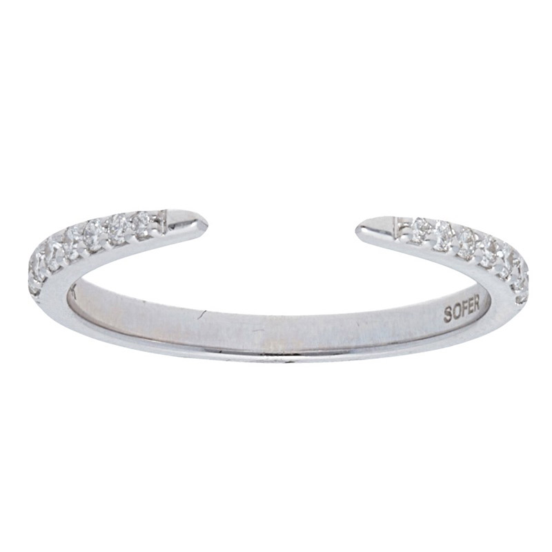 Deutsch Signature Pave Diamond Open Tipped Band