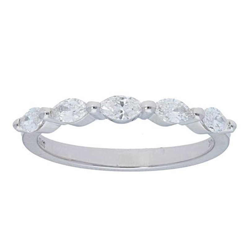 Deutsch Signature 5 Marquise Shared Prong Band