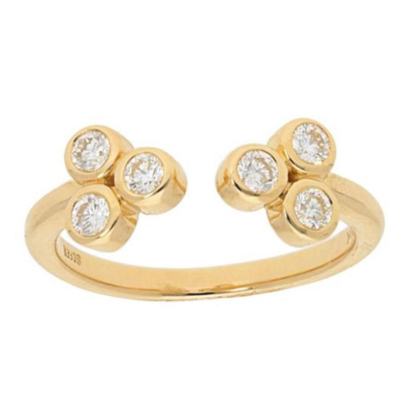 Deutsch Signature 3 Bezel Diamond  Open Ring