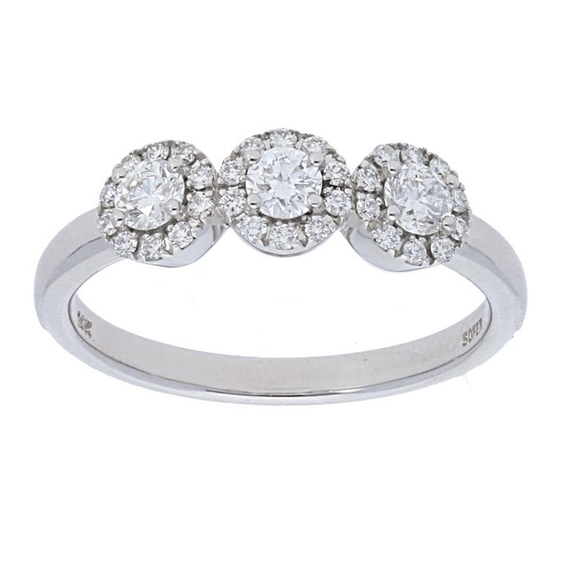 Deutsch Signature 3 Halo Diamond Ring