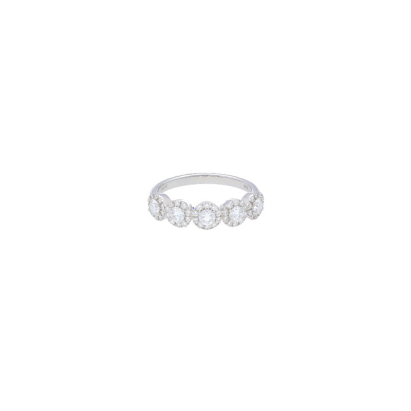Deutsch Signature 5 Halo Diamond Ring