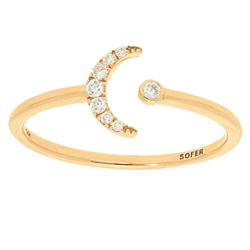 Deutsch Signature Tiny Moon Pave Diamond Ring