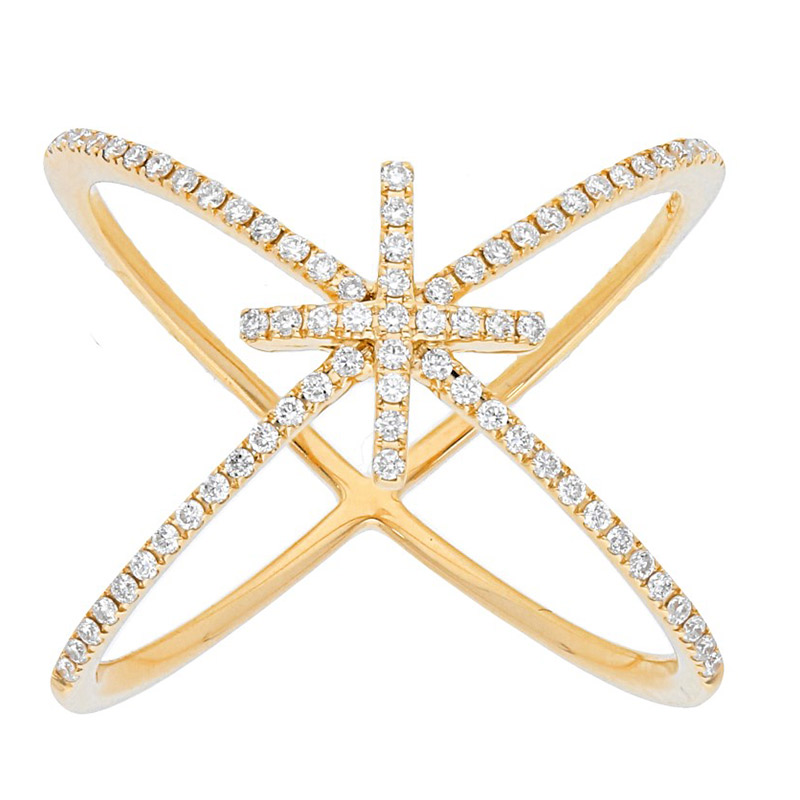 Deutsch Signature Thin Diamond Cross Band