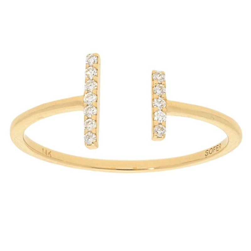 Deutsch Signature Thin Open Bar Diamond Ring